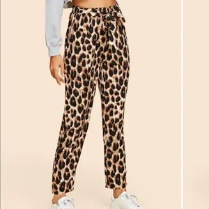 Pants - Leopard self tie pants